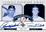 2003 Upper Deck Yankees Signature Pinstripe Excellence Autographs #MK Gene Michael/Tony Kubek