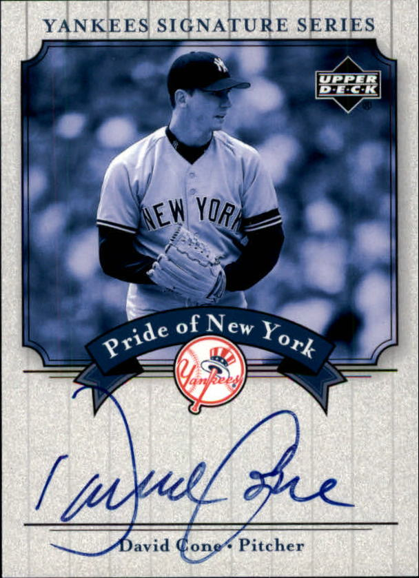 2003 Upper Deck Yankees Signature Pride of New York Autographs #CO David Cone
