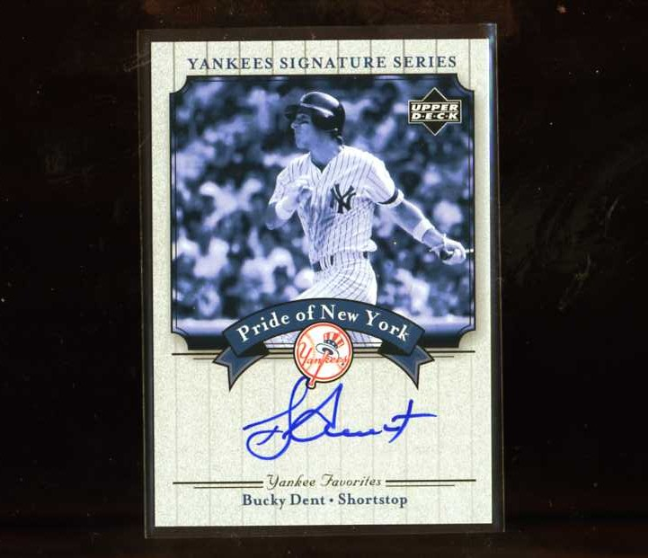 2003 Upper Deck Yankees Signature Pride of New York Autographs #DE Bucky Dent