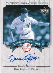 2003 Upper Deck Yankees Signature Pride of New York Autographs #DR Dave Righetti