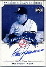 2003 Upper Deck Yankees Signature Pride of New York Autographs #DZ Don Zimmer