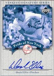 2003 Upper Deck Yankees Signature Pride of New York Autographs #EL Dock Ellis