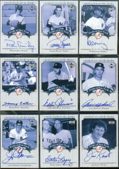 2003 Upper Deck Yankees Signature Pride of New York Autographs #ER Eddie Robinson