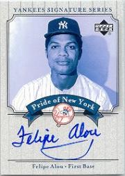 2003 Upper Deck Yankees Signature Pride of New York Autographs #FA Felipe Alou