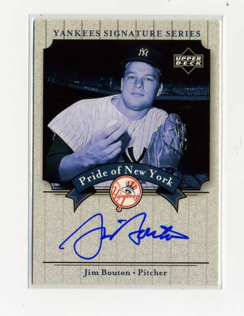 2003 Upper Deck Yankees Signature Pride of New York Autographs #JB Jim Bouton