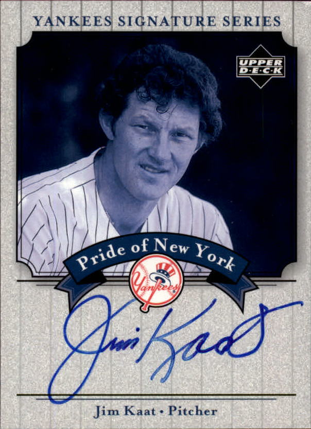2003 Upper Deck Yankees Signature Pride of New York Autographs #JK Jim Kaat