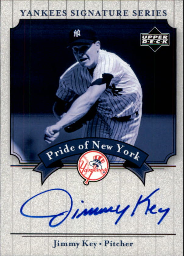 2003 Upper Deck Yankees Signature Pride of New York Autographs #KE Jimmy Key