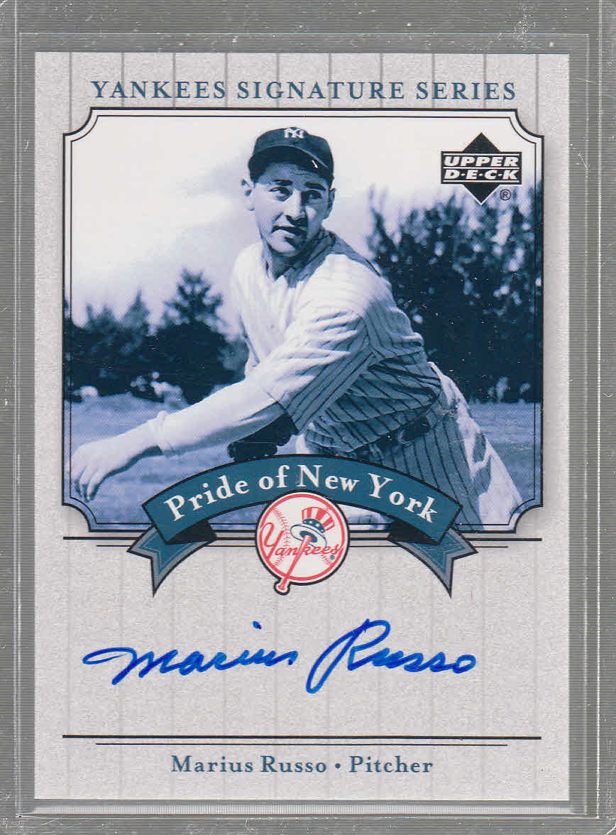 2003 Upper Deck Yankees Signature Pride of New York Autographs #MR Marius Russo