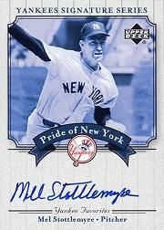 2003 Upper Deck Yankees Signature Pride of New York Autographs #MS Mel Stottlemyre