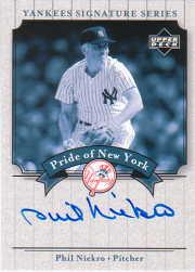2003 Upper Deck Yankees Signature Pride of New York Autographs #PN Phil Niekro