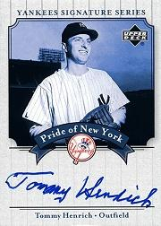 2003 Upper Deck Yankees Signature Pride of New York Autographs #TH Tommy Henrich