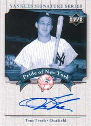 2003 Upper Deck Yankees Signature Pride of New York Autographs #TT Tom Tresh
