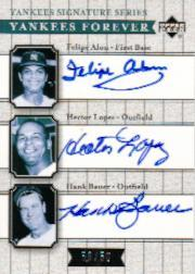 2003 Upper Deck Yankees Signature Yankees Forever Autographs #ALB Felipe Alou/Hector Lopez/Hank Bauer