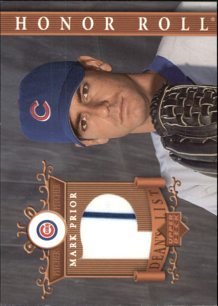 2003 Upper Deck Honor Roll Dean's List Jerseys #MA1 Mark Prior P