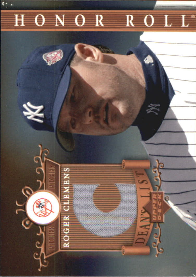 2003 Upper Deck Honor Roll Dean's List Jerseys #RC1 Roger Clemens C