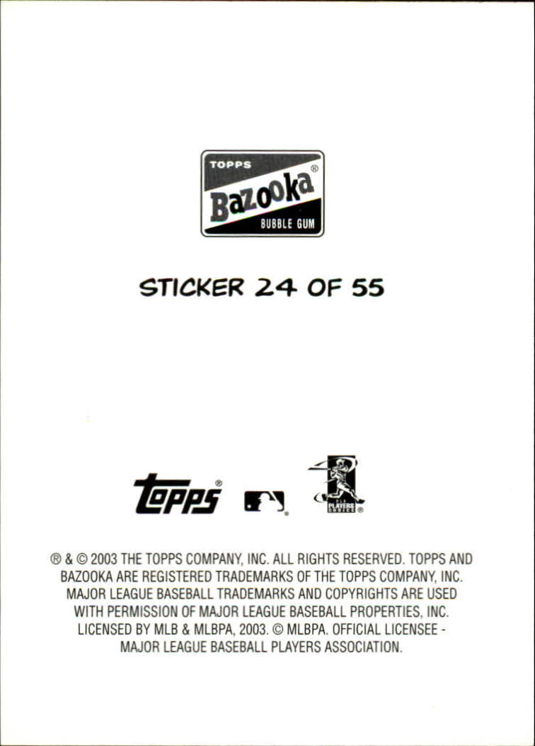 2003 Bazooka 4 on 1 Sticker #24 Mauer/Huber/Stokes/Tracy back image