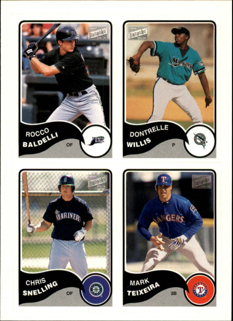 2003 Bazooka 4 on 1 Sticker #34 Baldelli/Willis/Snell/Teixeira
