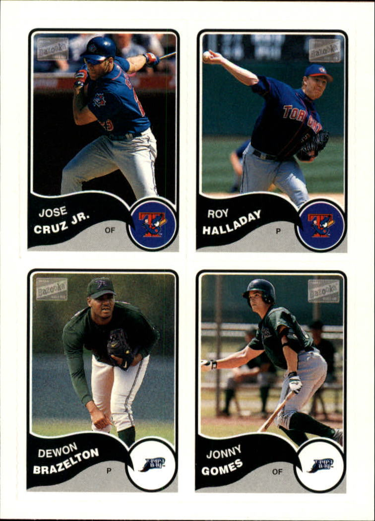 2003 Bazooka 4 on 1 Sticker #38 Cruz/Halladay/Braz/Gomes
