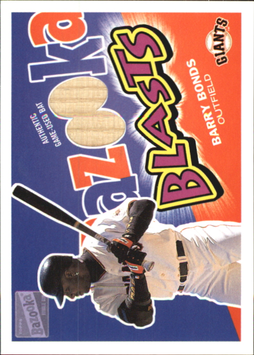 2003 Bazooka Blasts Relics #BB Barry Bonds F