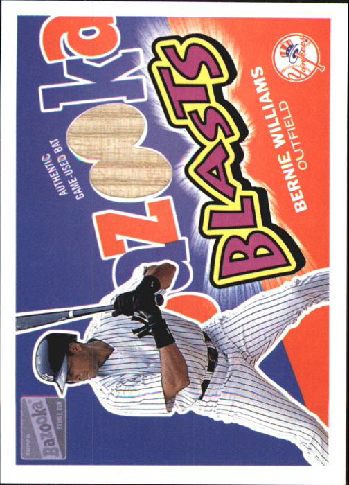 2003 Bazooka Blasts Relics #BW Bernie Williams D