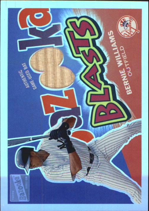 2003 Bazooka Blasts Relics Parallel 25 #BW Bernie Williams