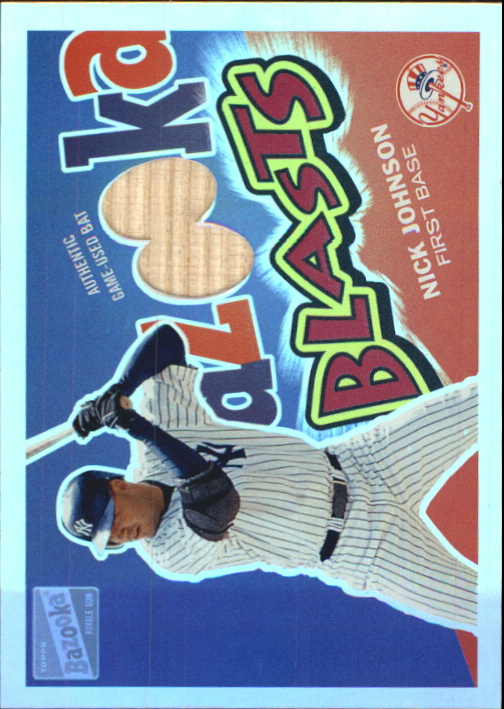 2003 Bazooka Blasts Relics Parallel 25 #NJ Nick Johnson