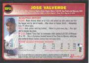 2003 Bowman Draft #16 Jose Valverde back image