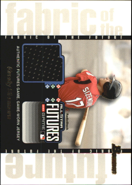 2003 Bowman Draft Fabric of the Future Jersey Relics #GS Grady Sizemore D