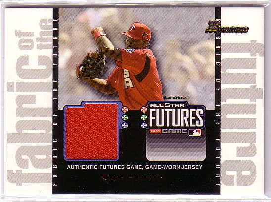 2003 Bowman Draft Fabric of the Future Jersey Relics #RJH Ryan Howard F