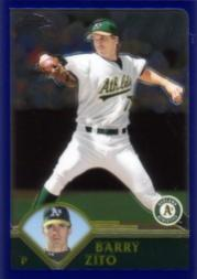 2003 Bowman Chrome #96 Barry Zito