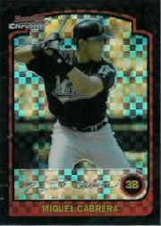 2003 Bowman Chrome Draft X-Fractors #3 Miguel Cabrera