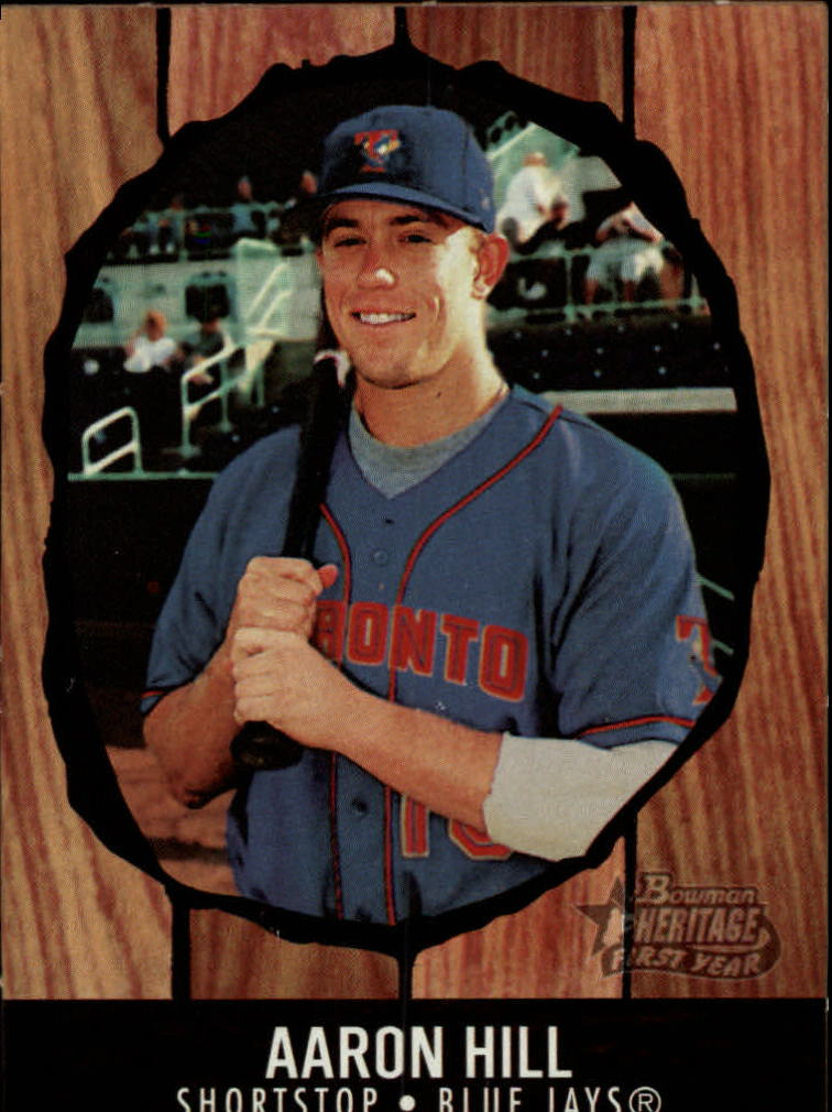 2003 Bowman Heritage Box Toppers #8 Aaron Hill KN