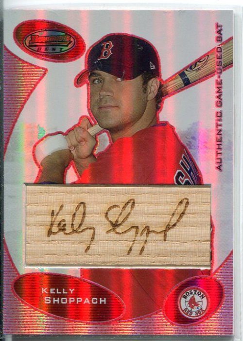 2003 Bowman's Best Red #KBS Kelly Shoppach FY Bat
