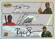 2003 Bowman's Best Triple Play Autographs #DRS Rajai Davis/Hanley Ramirez/Ryan Shealy