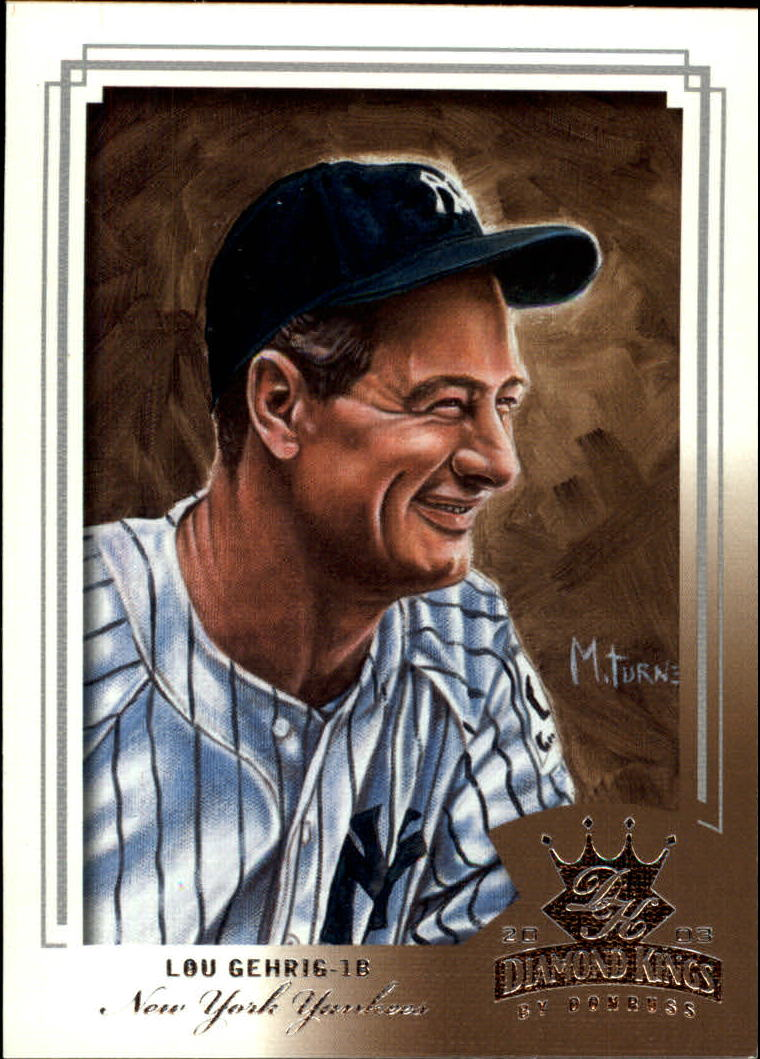 2003 Diamond Kings #162 Lou Gehrig RET
