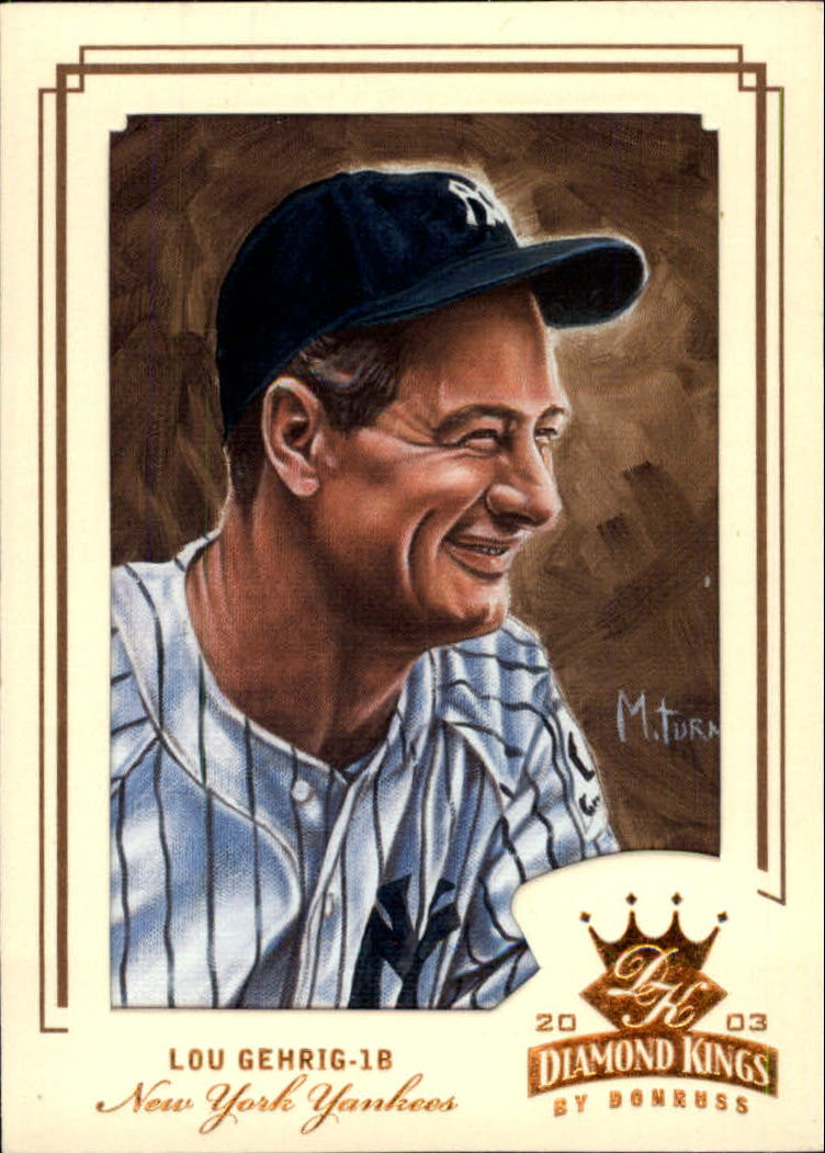 2003 Diamond Kings Bronze Foil #162 Lou Gehrig RET