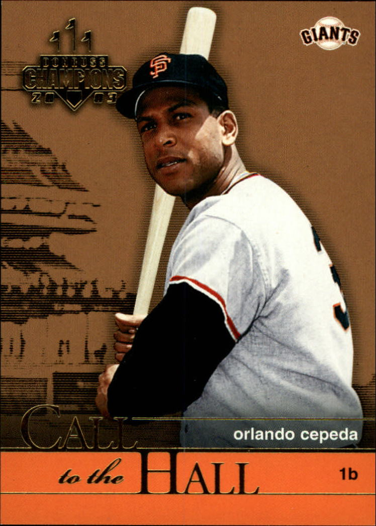2003 Donruss Champions Call to the Hall #4 Orlando Cepeda
