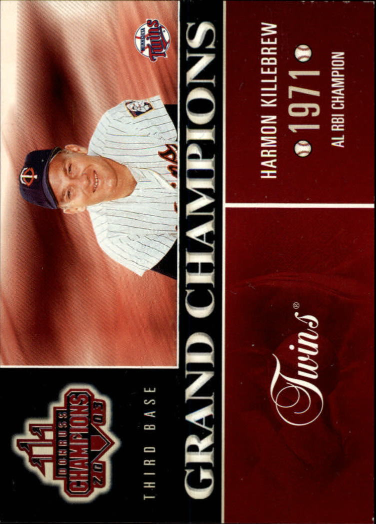 2003 Donruss Champions Grand Champions #6 Harmon Killebrew