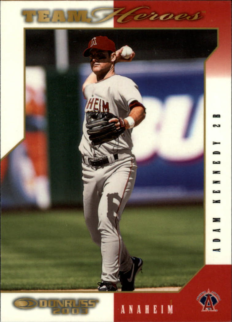 2003 Donruss Team Heroes Glossy #1 Adam Kennedy