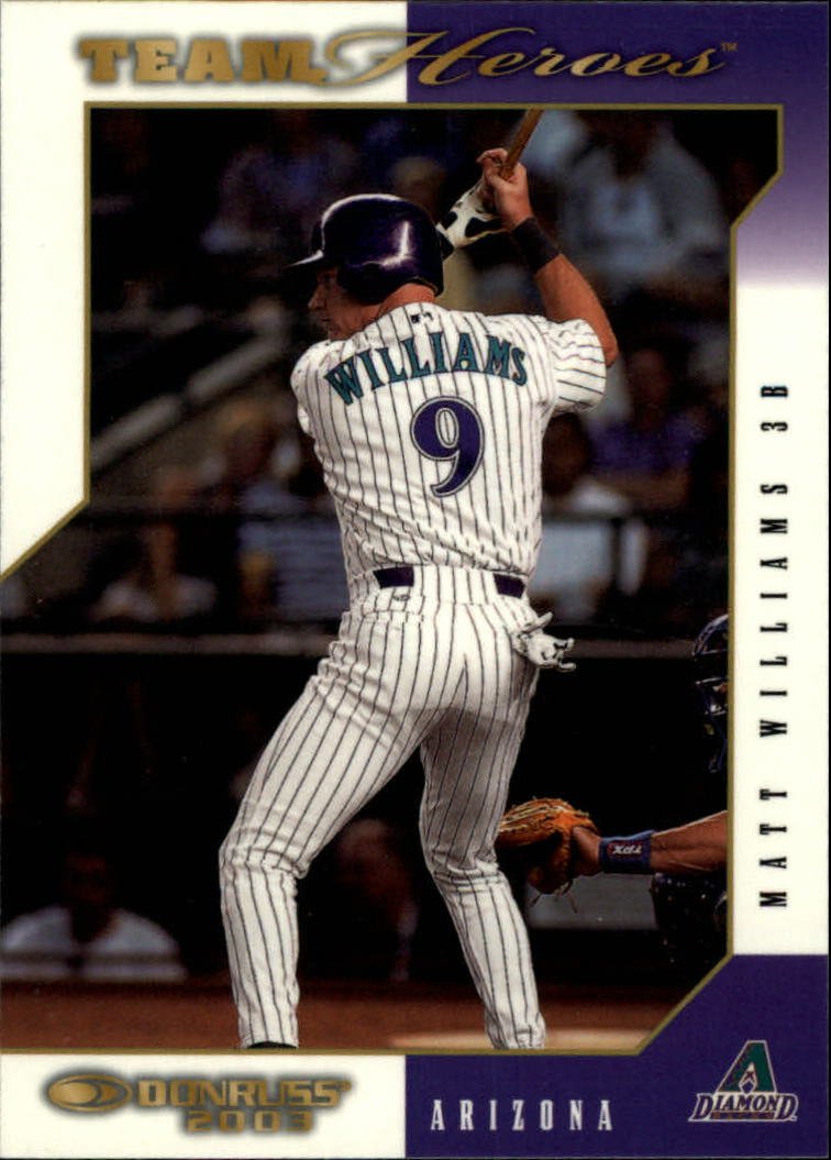 2003 Donruss Team Heroes Glossy #17 Matt Williams