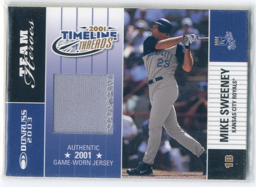 2003 Donruss Team Heroes Timeline Threads #36 Mike Sweeney/101