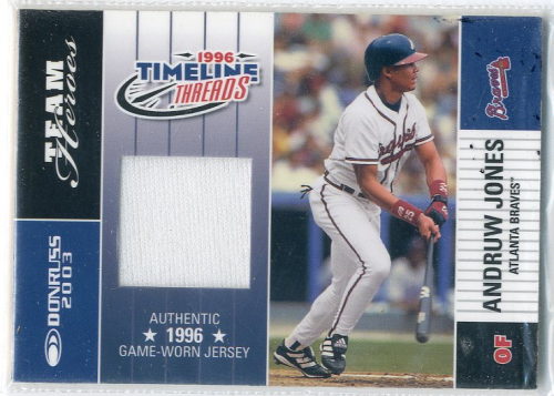 2003 Donruss Team Heroes Timeline Threads #49 Andruw Jones/96