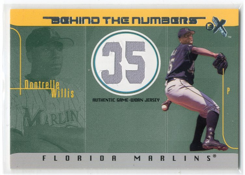 2003 E-X Behind the Numbers Game Jersey 500 #DW Dontrelle Willis
