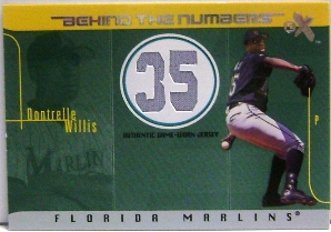 2003 E-X Behind the Numbers Game Jersey 199 #DW Dontrelle Willis