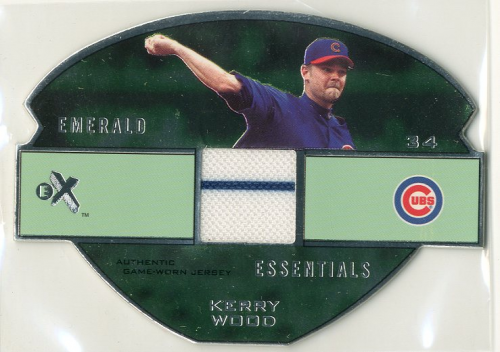 2003 E-X Emerald Essentials Game Jersey 175 #KW Kerry Wood