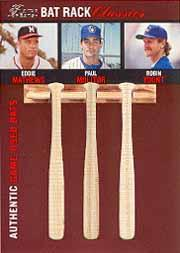 2003 Flair Greats Bat Rack Classics Trios #5 Eddie Mathews/Paul Molitor/Robin Yount