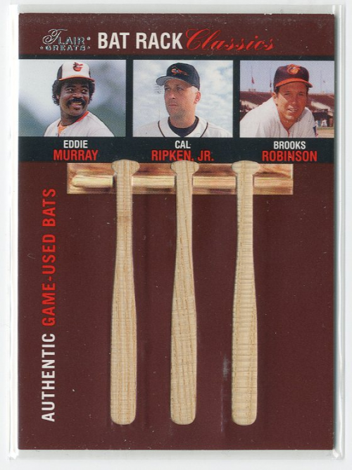 2003 Flair Greats Bat Rack Classics Trios #6 Eddie Murray/Cal Ripken/Brooks Robinson