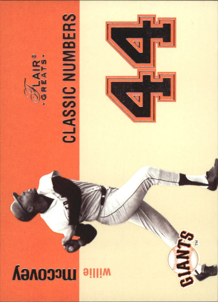 2003 Flair Greats Classic Numbers #2 Willie McCovey