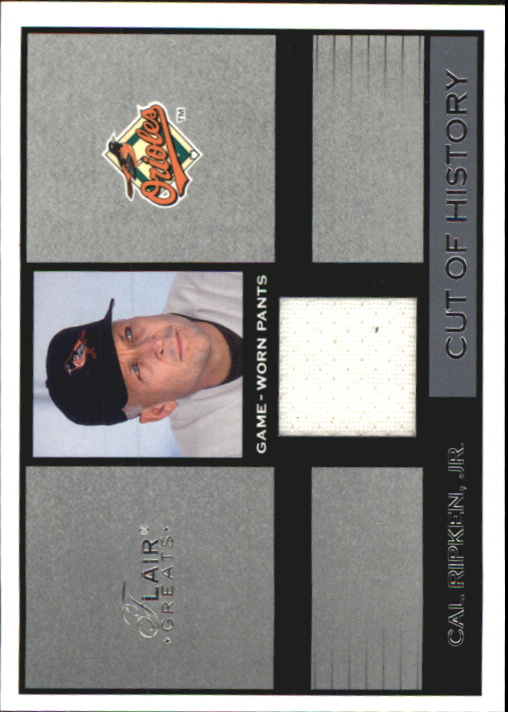 2003 Flair Greats Cut of History Game Used #22 Cal Ripken Pants