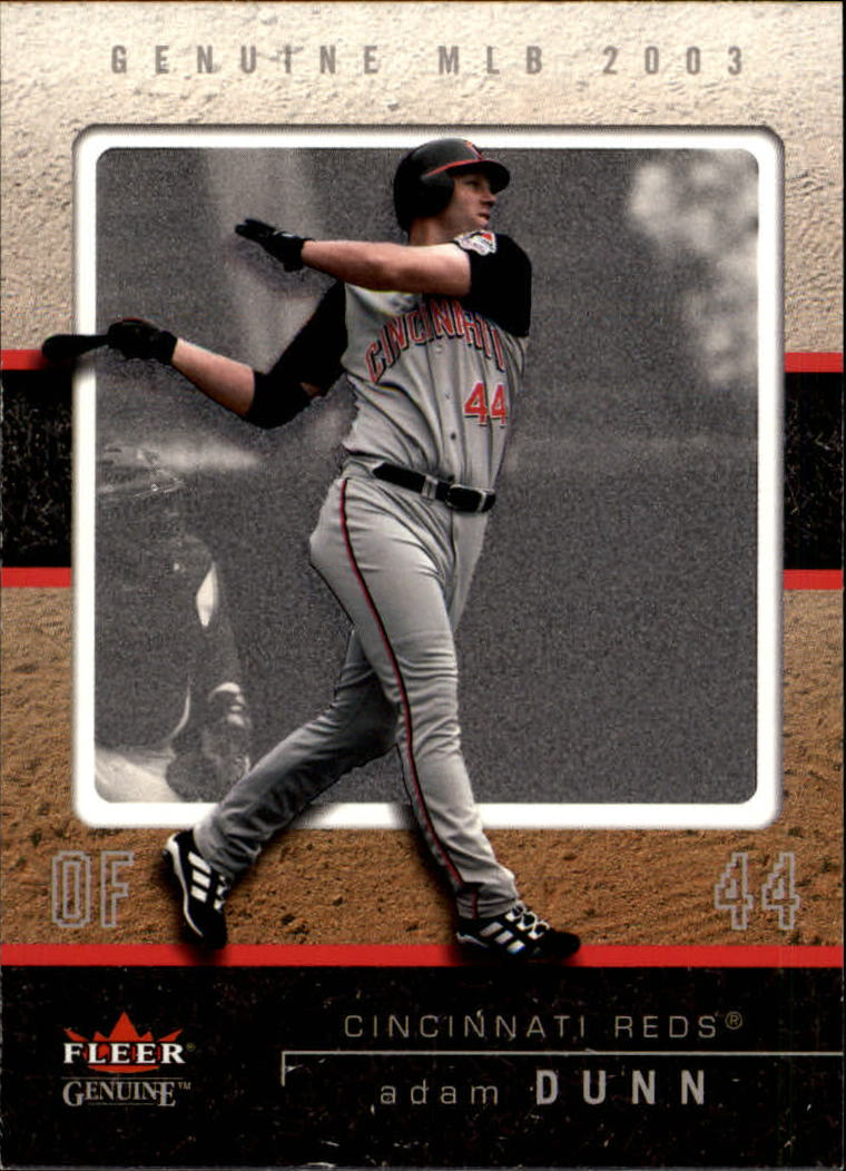 2003 Fleer Genuine #3 Adam Dunn